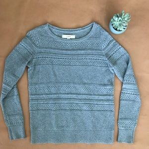 LOFT grey knit sweater